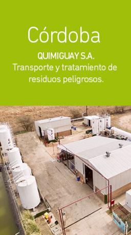 Planta de tratamiento de residuos peligrosos de Córdoba | Grupo Quimiguay