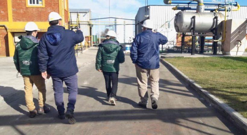 Técnicos del Ministerio de Ambiente realizaron una inspección de rutina en nuestra planta de Enrique Carbó