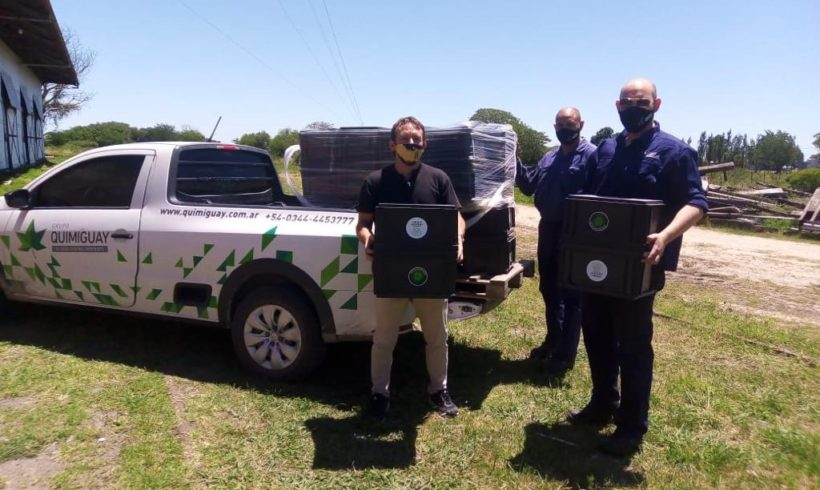 Grupo Quimiguay entregó 20 composteras al municipio de Enrique Carbó